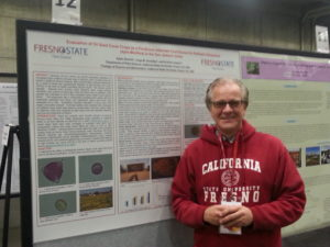 Adam presents his thesis research at the 2015 Almond Board Conference in Sacramento